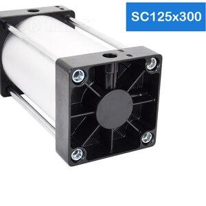 Image 5 - מפעל HotSale SC125X300 נשא 125mm שבץ 300mm אוויר צילינדרים פניאומטיים צילינדרים משחק כפול