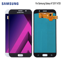 AMOLED For Samsung Galaxy A7 2017 A720 A720F SM-A720F LCD Display Touch Screen Digitizer Assembly Phone Parts Free Tools 7 touch screen digitizer sensor glass lcd display monitor assembly for lenovo tab 2 tab2 a7 30hc a7 30 a7 30dc