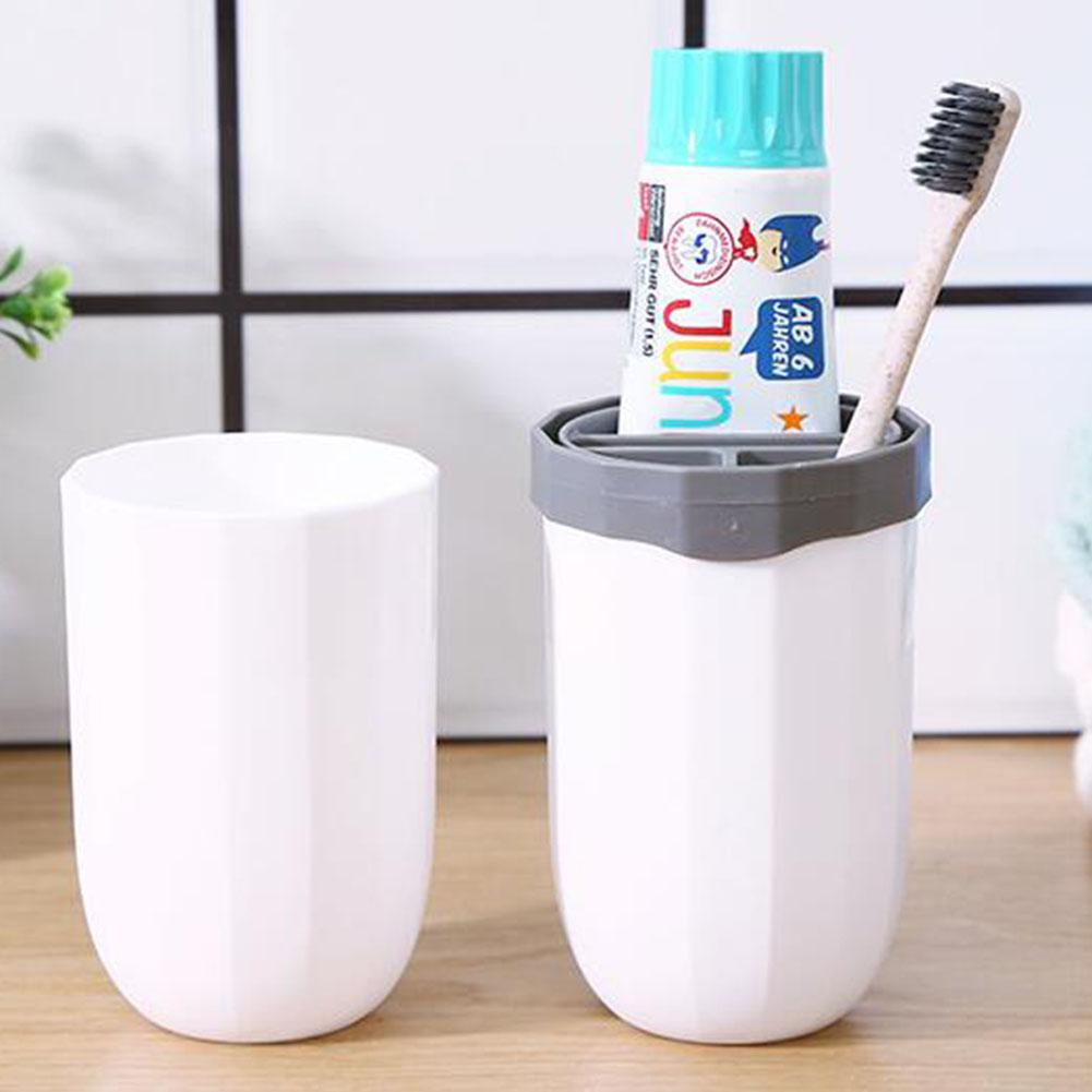 Home Collection Bathroom Tumbler Cup For Vanity Countertops Travel Hiking Camping With Pencil Pen Holder And Makeup Brush Holder