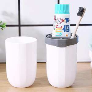 Tumbler-Cup Makeup-Brush-Holder Bathroom Travel for Vanity-Countertops Hiking Camping
