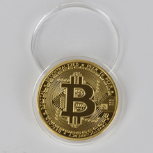 Gold Plated Physical Bitcoins Bit Coin BTC Collectible Art Collection Gift Metal Antique Imitation BTC Coin Art Collection casascius bit coin bitcoin bronze physical bitcoins coin collectible gift btc coin art collection physical