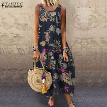 Floral Printed Long Dress Cotton 2