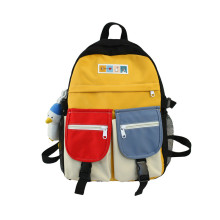 New men's and women's backpack Korean version of the canvas girl junior high school student schoolbag