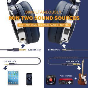 Image 4 - OneOdio orijinal kulaklıklar profesyonel stüdyo dinamik Stereo DJ mikrofonlu kulaklıklar kablolu kulaklık izleme telefon için