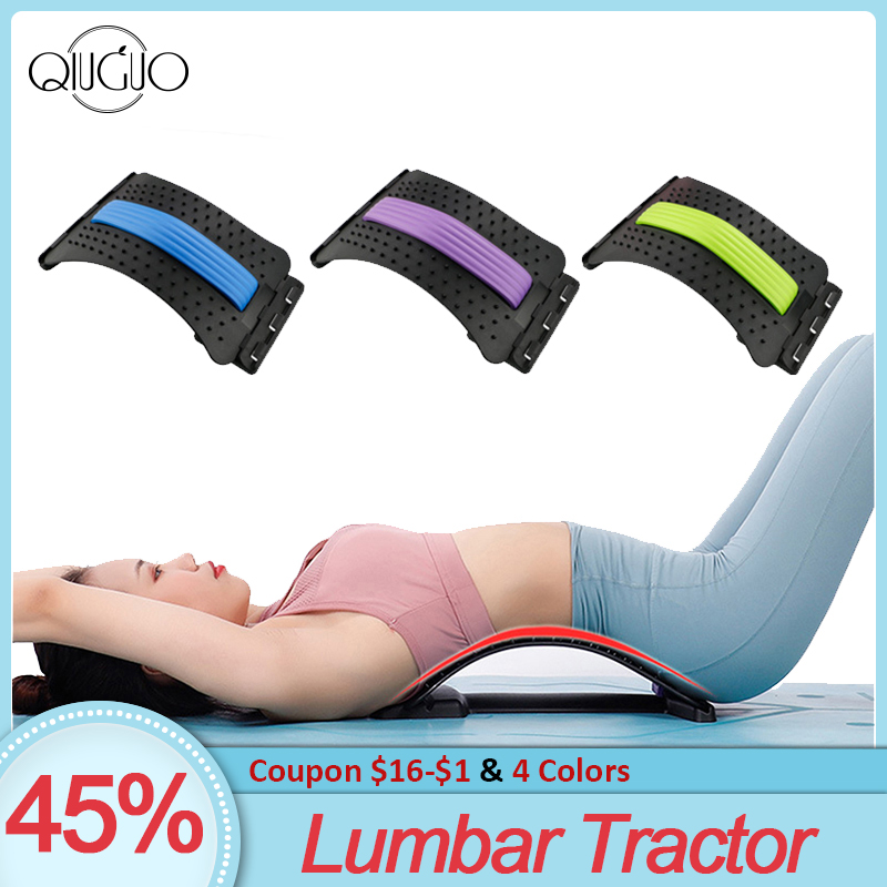 Lumbar Traction Stretching Device Posture Corrector Spine Pain Relief Back Massage Stretcher Lumbar Tractor Waist Support(China)