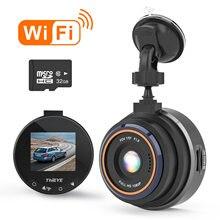 Kamera na deskę rozdzielczą ThiEYE wideorejestrator samochodowy kamera na deskę rozdzielczą era Safeel Zero + Real HD 1080P 170 szerokokątna kamera na deskę rozdzielczą z kamerą samochodową WiFi g-sensor