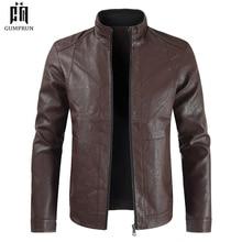 Мужская Осенняя модная повседневная мотоциклетная куртка из искусственной кожи, мужская куртка из искусственной кожи, Jaqueta De Couro Masculina, кожаная куртка
