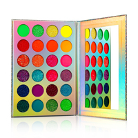 Eye Shadow Palette Wholesale Neon Pigment Eyeshadow Palette 24 Color UV Blacklight Colorful Makeup Glitter Custom Private label