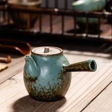 Tea-Pots Side-Handle Tea-Making Heat-Resistant Siteel Vintage Single Pottery Nostalgic