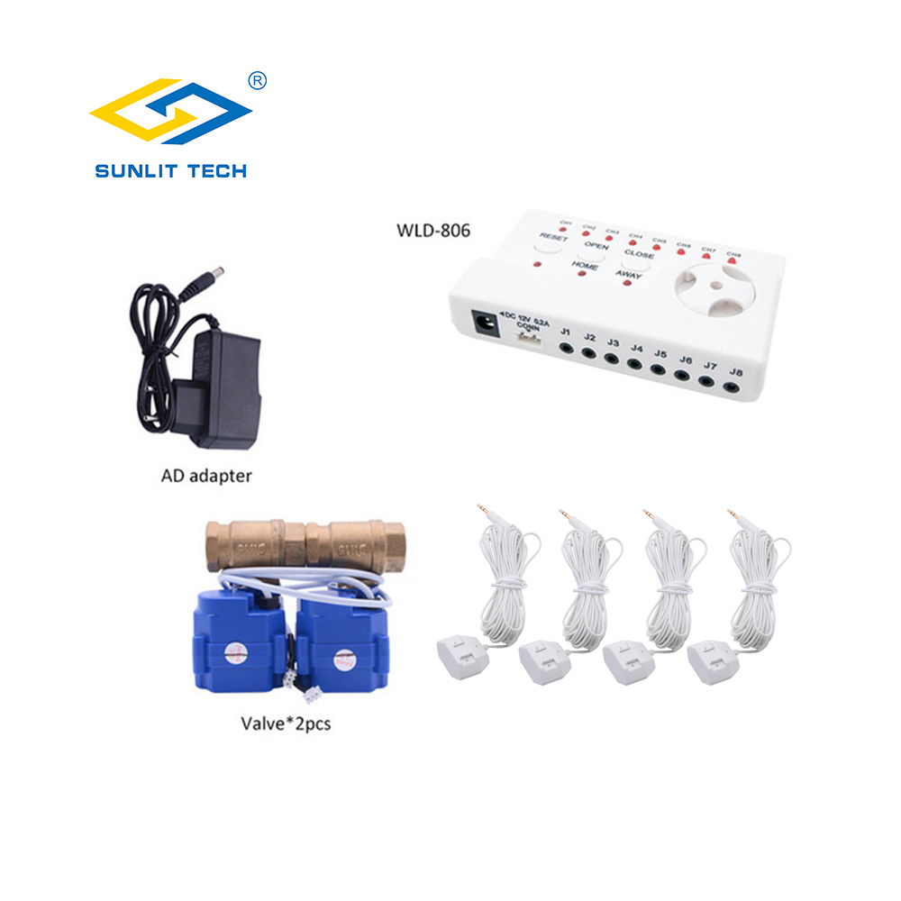 Russian Water Leakage Alarm Detector With DN15 DN20 DN25 Water Leak Sensor Detection Home Smart Security System 4pcs Water Cable