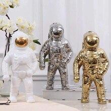 Ceramic Cosmonaut Model Decoration Miniatures Tabletop Figurines Crafts Creative Spaceman Piggy Bank Home Garden Art Ornament