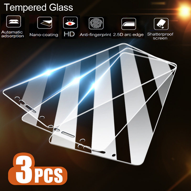 3-1Pcs/Lot Tempered Glass For Samsung Galaxy J4 Plus J6 J8 A6 A8 A7 2018 Screen Protector For Samsung A5 A3 A7 2017 Glass Film