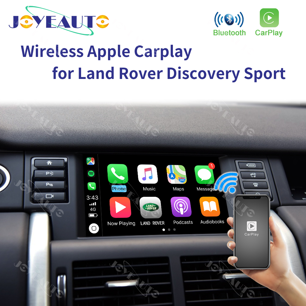 Joyeauto Drahtlose Apple Carplay <font><b>F</b></font>ür Land Rover/Jaguar Entdeckung Sport <font><b>F</b></font>-Tempo Entdeckung 5 Android Auto Spiegel Wifi iOS13 Auto Spielen image