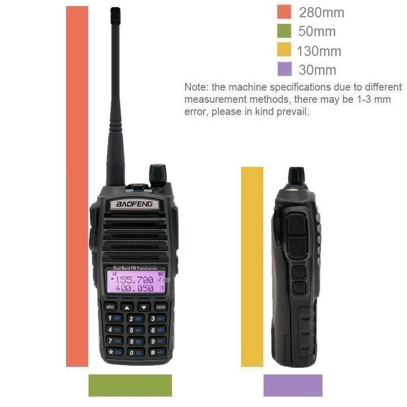 8W Walkie Talkie BAOFENG UV-82 transmisor de Radio Amateur VHF UHF UV82 8 vatios jamón CB Amateur de escáner de Radio transmisor