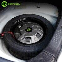 Sennuopu voiture subwoofer aluminium boîte en métal pneu de secours subwoofer amplificateur intégré 500W voiture subwoofer audio mise à niveau les voitures