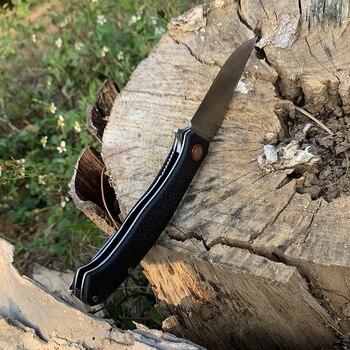TUNAFIRE Portable folding knife 59-60 high hardness D2 camping self-defense survival knife self-defense knife 4