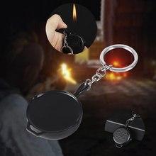 Jedzenie kurczaka płaskim pan kreatywny przenośne zapalniczki metalowe zapalniczki z wymienialnym wkładem butan gaz zapalniczki brelok zapalniczki tanie tanio Safety Gospodarstwa domowego 1 Colour Gas Lighter Black Butane Gas