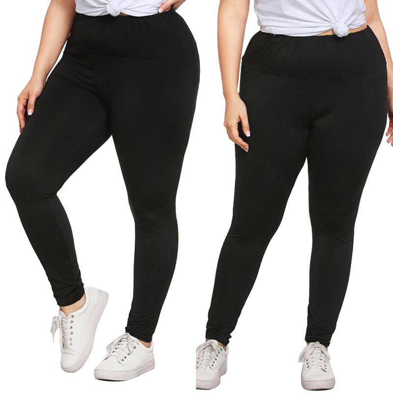 Women Plus Size Leggings New High Elastic High Waist Black Leggings Fashion Casual Sports Daily Autumn Winter Lady Leggings