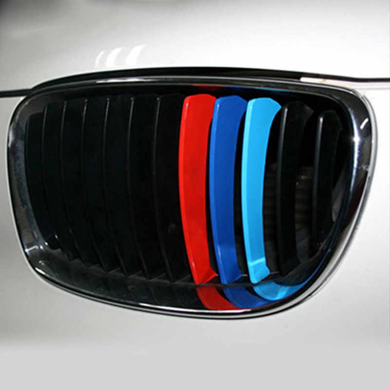 3 sztuk/zestaw 25x5cm trzy-kolor netto naklejki samochodowe Grille naklejki do BMW przenośne serii akcesoria samochodowe na słońcu odporna na odporne na
