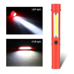 Image 3 - Đa Năng COB LED Mini Bút Ánh Sáng Làm Việc Kiểm Tra Đèn LED Đèn Pin Đèn Với Đáy Nam Châm Và Kẹp Đen/đỏ/Xanh Dương