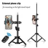 Trípode de 68/100/200cm con soporte para teléfono, soporte ajustable con Bluetooth para fotografía, trípode para estudio fotográfico