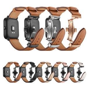 20 мм кожаный ремешок для Xiaomi Huami Amazfit GTS Смарт-часы браслет для Xiaomi Amazfit BIP ремешок металлическая пряжка кожаный ремень