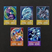 5 peças de yu-gi-oh anime cartão de estilo olhos azuis ultimate dragão obelisco yugioh dm clássico orica cartão proxy memórias da infância