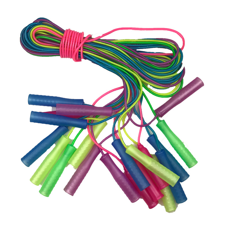 Jump Rope Small Batch Manufacturers Wholesale Students Supplies Plastic Small Handle Children Jump Rope Sports Supplies Kinderga