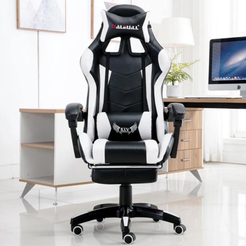 เกมการแข่งขันเก้าอี้คอมพิวเตอร์ Компьютерное Кресло Professional Headrestอินเทอร์เน็ตสำนักงานLazy Loungeเก้าอี้บ้าน...
