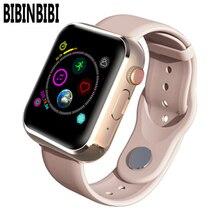 Neue KY001 Smart Uhr Frauen großen bildschirm männer Sport Fitness Bluetooth Smartwatch Telefon Musik player SIM TF Karte für iOS android