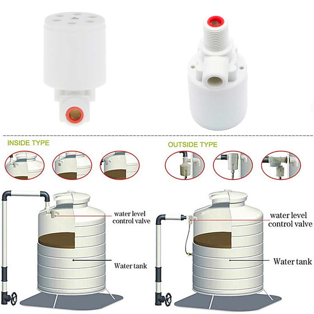 1pc Floating Ball Valve Automatic Float Valve Water Level Control Valve F Or Water Tank Water Tower