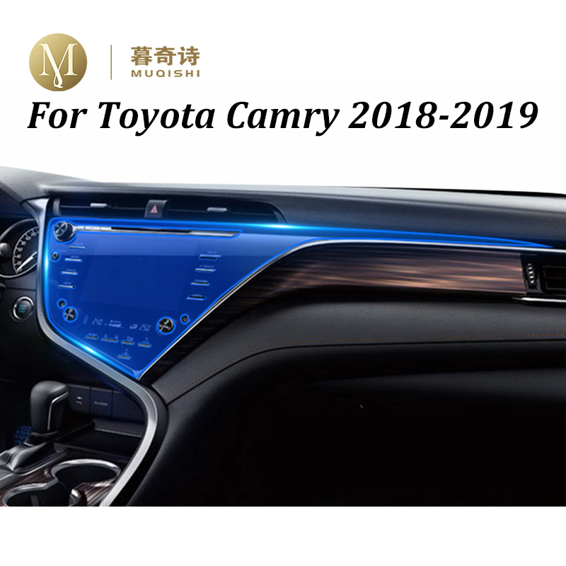 For Toyota Camry 2018 2019 Navigation Screen Film Tempered Glass Center Control Cover Display Saver Dashboard Film Protector