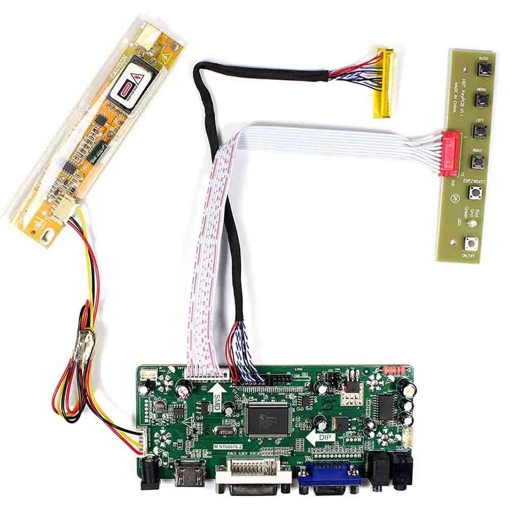 Latumab New LCD LED LVDS Controller Board Driver Kit For LP154WX4(TL)(C1) HDMI + DVI + VGA
