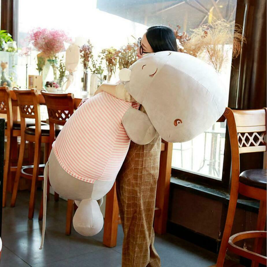Down Cotton Hippo Soft Toy Comfortable Giant Hippo Stuffed Animal Pillow Doll Stuffed Animals Cute Plush Toys For Children