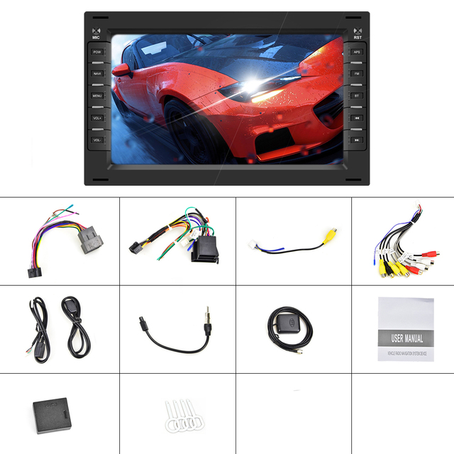 """Podofo 7"""" 2din Android 8.1 Car Radio GPS WIFI FM DAB+ Car Audio Autoradio Raido For BORA POLO MK5 SHARAN JETTA MK4 CITI CHICO"""