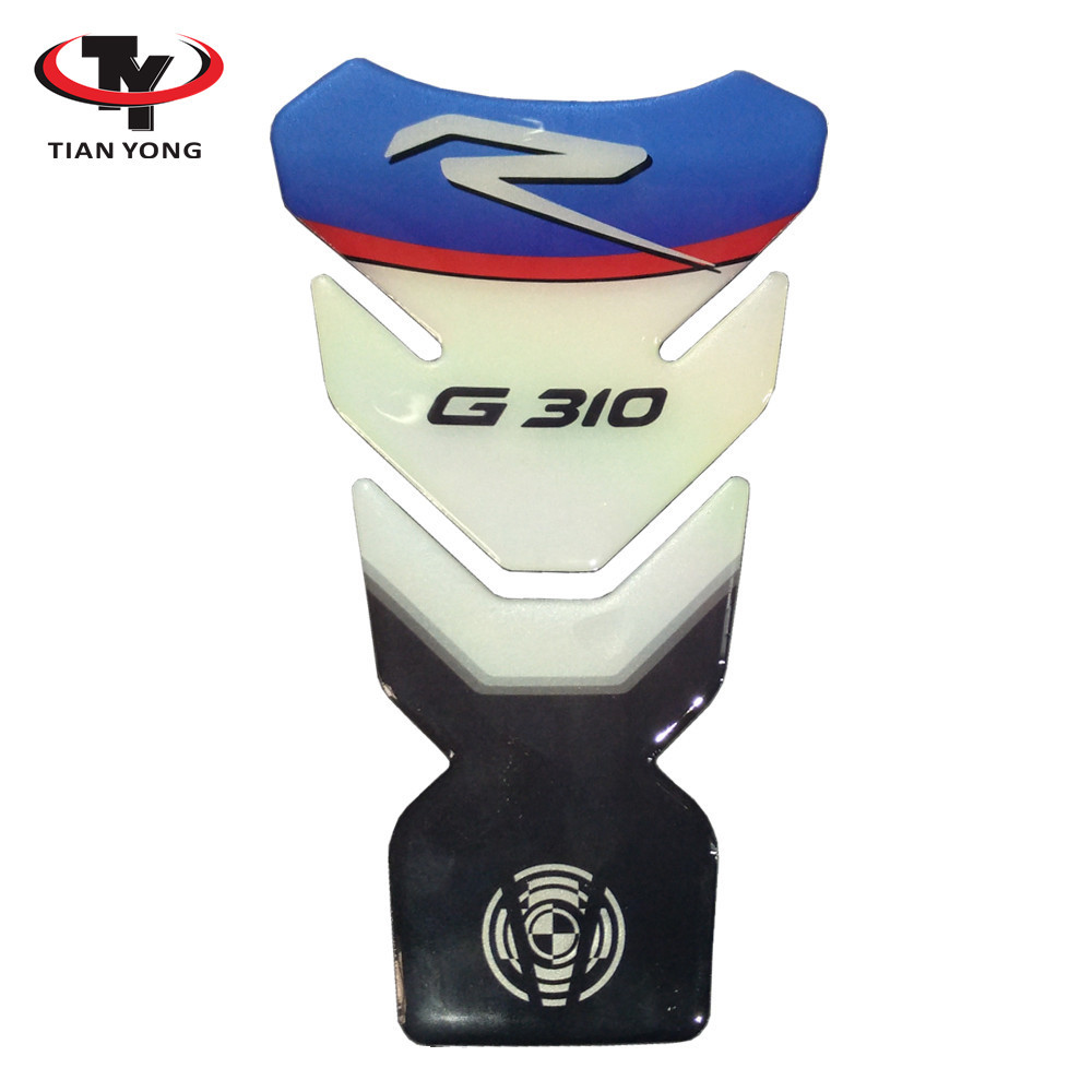 Decorative Protector Black Motorcycle For BMW G310 G 310 Tank Pad 3D Resin Sticker High Quality