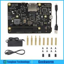 라즈베리 파이 4B X725 UPS HAT (18650 전원 최대 5.1V 8A 출력) DC 5V 4A 전원 공급 장치 키트가있는 전원 관리 확장 보드