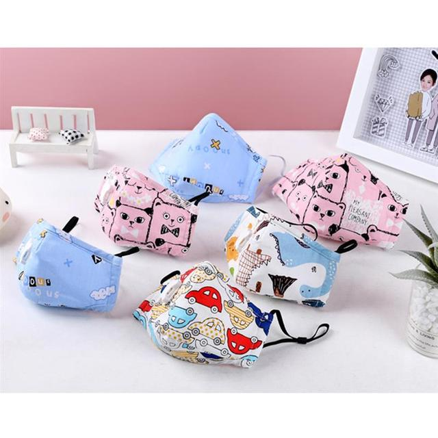 3pcs/set Kids Cartoon Printing Mouth Masks Dustproof Washable PM2.5 Filter Mask Mouth Cover With Filter Pad Clothing Accessories 2