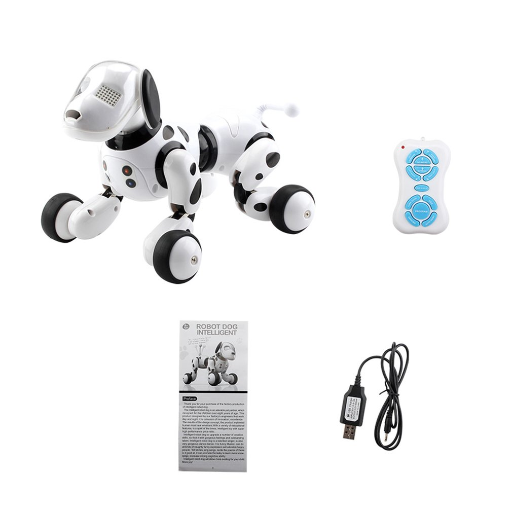 Robô inteligente cão 2.4g controle remoto sem