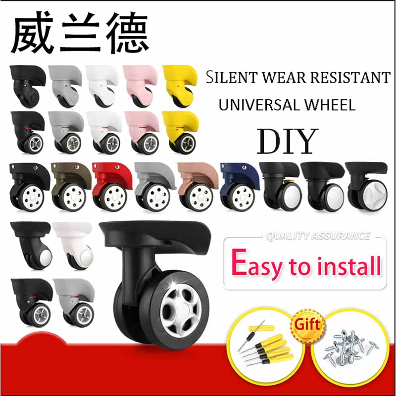 Luggage Replacement Wheels Suitcase On Wheels Replacement 14-30 Inch Luggage Accessories Silent Wheels For A  Luggage Casters