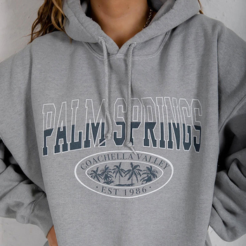 Bluza z nadrukiem listowym Vintage bluzy z kapturem damskie szare bawełniane ciepłe polarowe swetry na zimę 2020 jesień nowe casualowe w stylu Streetwear Girls tanie i dobre opinie Giyu COTTON Poliester CN (pochodzenie) Wiosna jesień Rozwijane ramię Pełna HO-540 REGULAR Osób w wieku 18-35 lat Printing