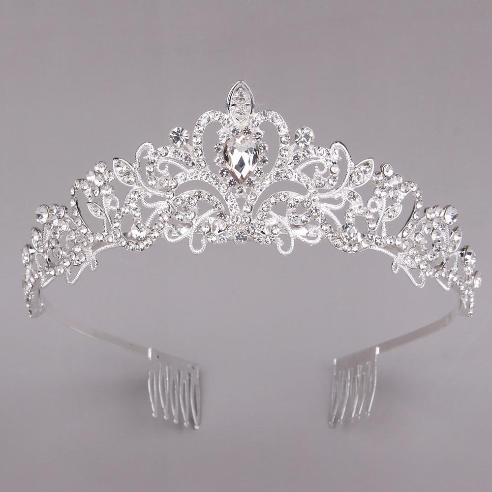 Женские винтажные диадема на выпускной вечер, диадема с кристаллами, диадема и короны королевской королевы, свадебные украшения для волос, ...
