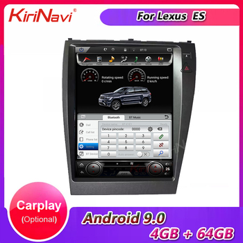 KiriNavi Vertical Screen Tesla Style 12.1 Android Car Radio for Lexus ES ES240 ES300 ES330 ES350 Car Multimedia Dvd Navigaton image