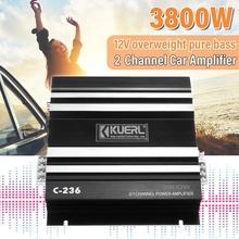 3800 Watt 2 kanałowy 12V wzmacniacz samochodowy samochodowy sprzęt Audio wzmacniacz samochodowy sprzęt Audio wzmacniacz Audio dla samochodów wzmacniacz Subwoofer tanie tanio KROAK Car Power Amplifier Wielokanałowych 3800W 150mV 20Hz-20KHz Aluminum alloy 1800g Mini HiFi car amplifier board 12V strong pure bass