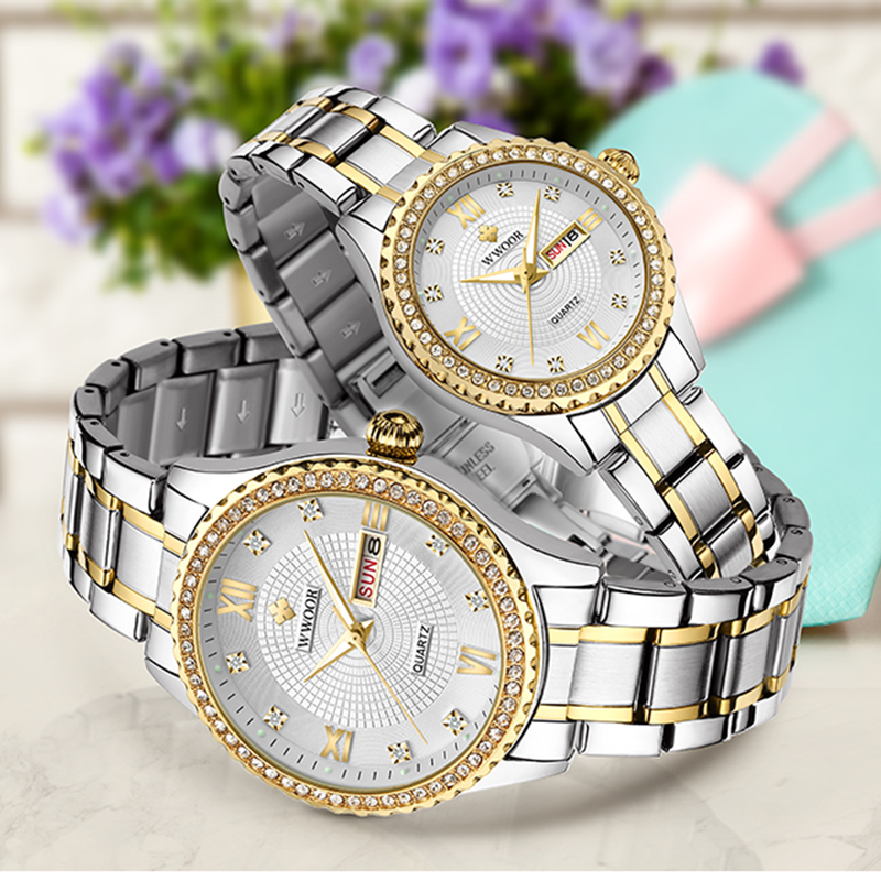 Couple Watch Men and Women Luxury Brand Watches Men's Watches Women's Clothings Women's Dresses