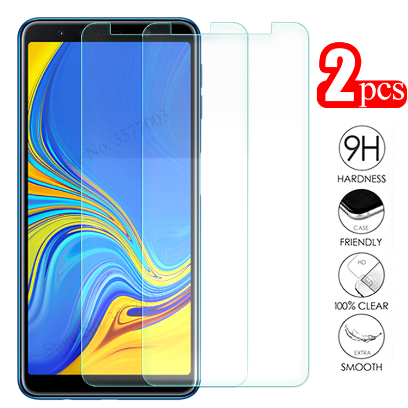 2pcs Protective Glass For Samsung Galaxy A6 A8 J4 J6 Plus A7 A5 A9 2018 Screen Protector On The Samsun J 4 6 A 7 8 Tempered Glas