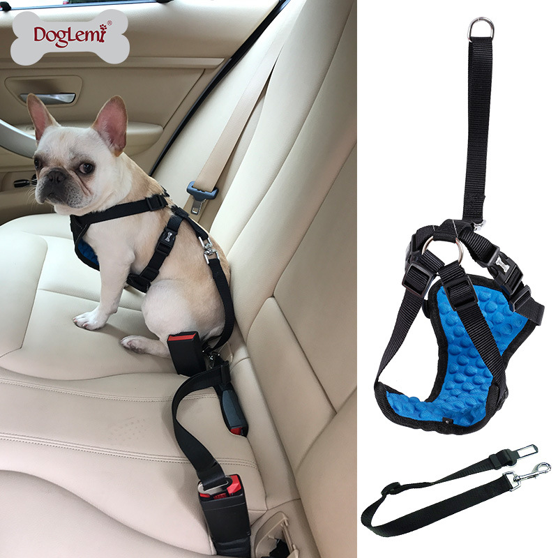 Comfortable Massage Pet Car Mounted Safety Belt Car Tied Dog Traction Rope Car Profession Proof Punch Gou Bei Dai Set