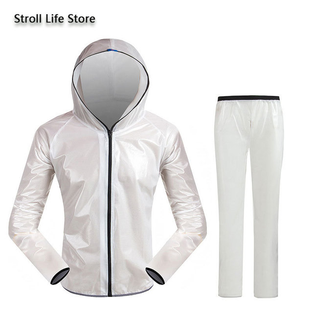 Outdoor Waterproof Suit Transparent Raincoat Men and Women Motorcycle Rain Coat Hiking Adult Thin Breathable Rain Pants Gift 1