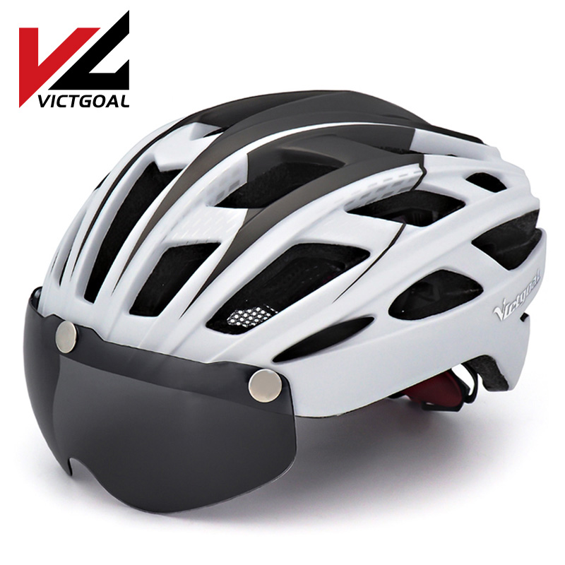 VICTGOAL Mountain Road Bike Helmet Light MTB Bicycle Helmet For Men Women Integrally Molded Windproof Cycling Helmet With Goggle|mtb bicycle helmet|road bike helmet|bicycle helmet - title=