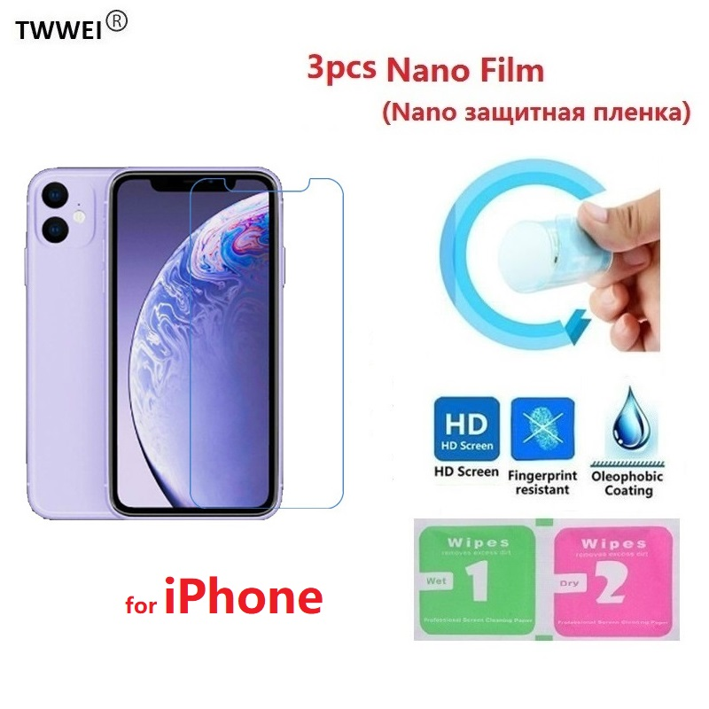 Nano Protective Film For iPhone 11 Pro Max 8 7 6 6s Plus 5 SE 5s iPhone XR X XS Max (Not Glass) LCD Screen Protector Film Foil image
